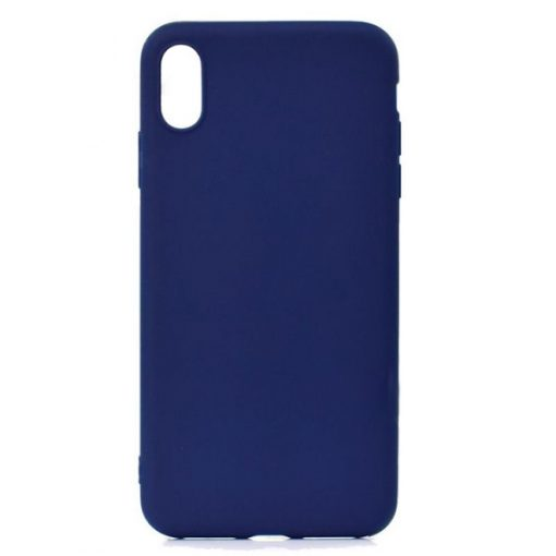 SESTIP9PBL_SENSO SOFT TOUCH IPHONE XS MAX blue backcover