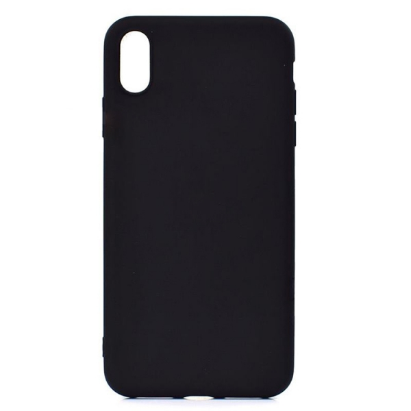 SESTIP9PB_SENSO SOFT TOUCH IPHONE XS MAX black backcover