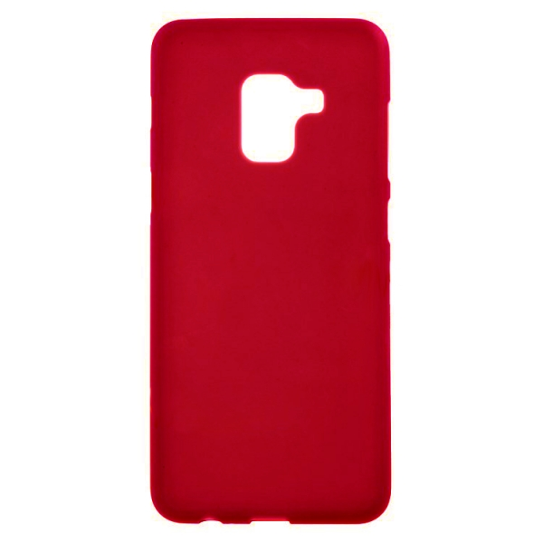 SESTSAMA518R_SENSO SOFT TOUCH SAMSUNG A5 2018 / A8 2018 red backcover