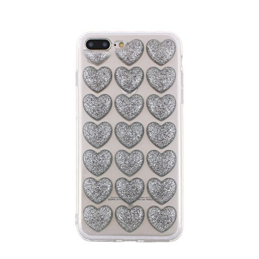 SPDHEARTIP6S_SPD TPU HEARTS IPHONE 6 6S SILVER backcover