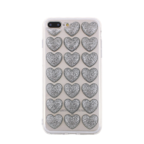 SPDHEARTIP7S_SPD TPU HEARTS IPHONE 7 8 SILVER backcover