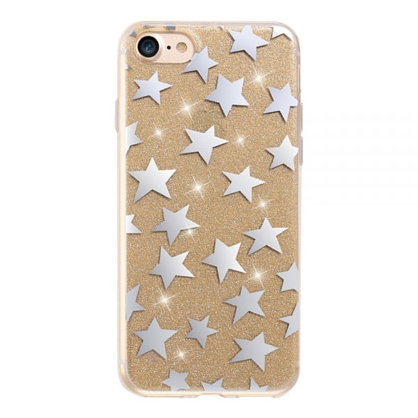 SPDSTAIP7G_SPD TPU STARS IPHONE 7 8 GOLD backcover