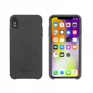 SSBKC0100_SO SEVEN GENTLEMAN MICROFIBER IPHONE XS MAX grey backcover