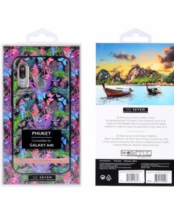 SSBKC0260_SO SEVEN PUCKET TROPICAL BLACK BUTTERFLY SAMSUNG A40 backcover