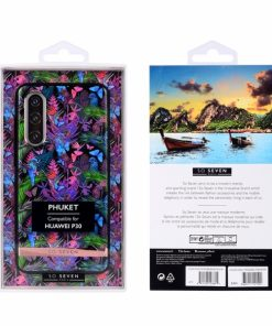 SSBKC0262_SO SEVEN PUCKET TROPICAL BLACK BUTTERFLY HUAWEI P30 backcover