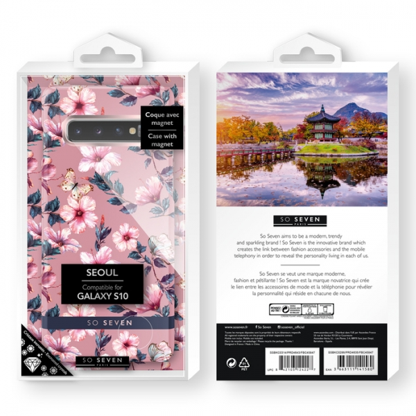 SSBKC0321_SO SEVEN PREMIUM SEOUL PINK HIBISCUS SAMSUNG S10 backcover