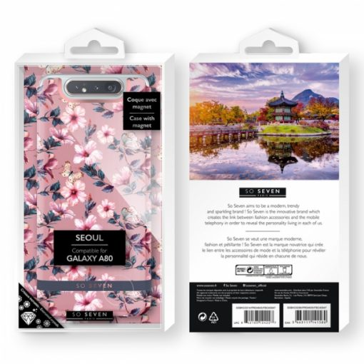 SSBKC0323_SO SEVEN PREMIUM SEOUL PINK HIBISCUS SAMSUNG A80 backcover