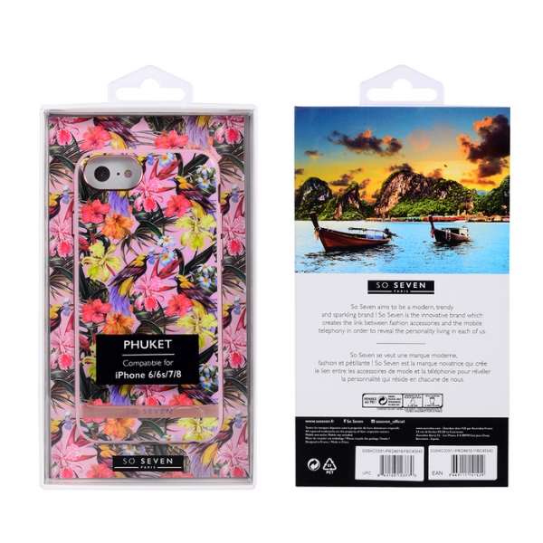 SSBKC0351_SO SEVEN PUCKET TROPICAL PINK BIRD IPHONE 6 7 8 backcover