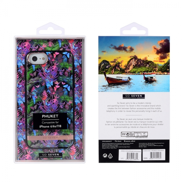 SSBKC0353_SO SEVEN PUCKET TROPICAL BLACK BUTTERFLY IPHONE 6 7 8 backcover