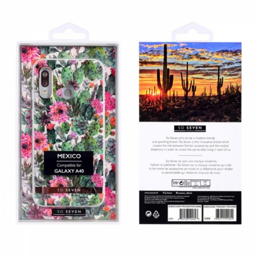 SSBKC0360_SO SEVEN MEXICO PINK FLOWER SAMSUNG A40 backcover