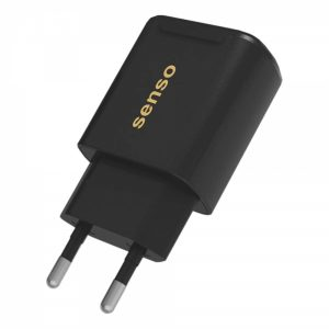 STCH24B_SENSO FAST TRAVEL CHARGER 2.1A 2 PORTS black