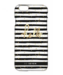 SVNCSBDMBKIP6_SO SEVEN CRUISE black stripes IPHONE 6 6s backcover