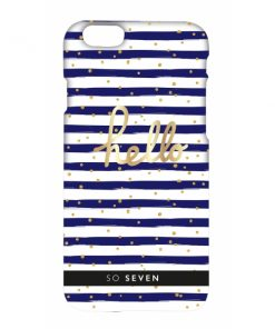 SVNCSBDMBLIP6_SO SEVEN CRUISE blue stripes IPHONE 6 6s backcover