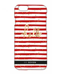 SVNCSBDMRDIP6_SO SEVEN CRUISE red stripes IPHONE 6 6s backcover