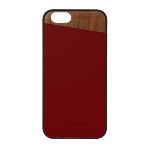 SVNCSCABDIP7_SO SEVEN DANDY WOOD IPHONE 7 8 crimson backcover