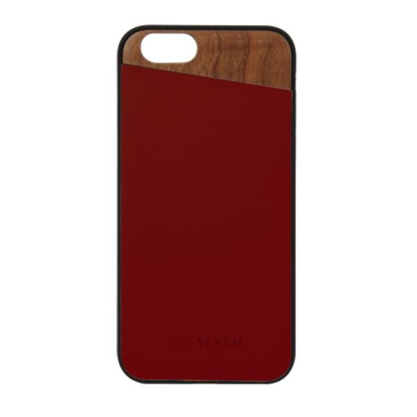 SVNCSCABDIP7_SO SEVEN DANDY WOOD IPHONE 7 8 crimson backcover