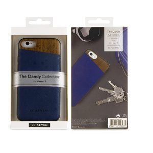 SVNCSCABLIP7_SO SEVEN DANDY WOOD IPHONE 7 8 blue backcover