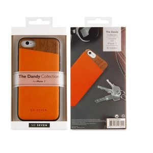 SVNCSCAORIP7_SO SEVEN DANDY WOOD IPHONE 7 8 orange backcover