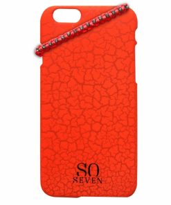 SVNCSFPORIP6_SO SEVEN IPHONE 6 6s Orange Cracked Color +bracelet backcover