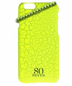 SVNCSFPYLIP6_SO SEVEN IPHONE 6 6s Yellow Cracked Color +bracelet backcover
