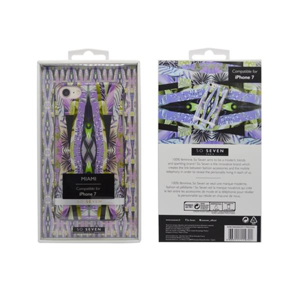 SVNCSMIAMI3IP7_SO SEVEN MIAMI IPHONE 7 8 purple backcover