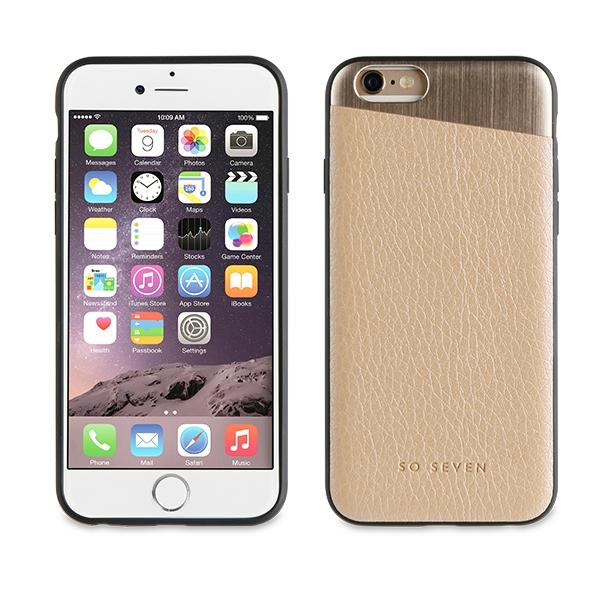 SVNCSMPU1IP7_SO SEVEN METALLIC PU IPHONE 7 8 gold backcover