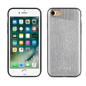 SVNCSMPU4IP7_SO SEVEN METALLIC PU IPHONE 7 8 silver backcover