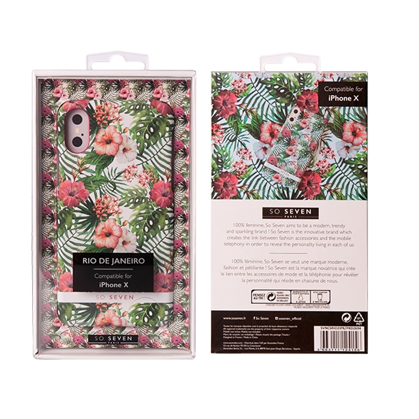 SVNCSRIO2IP8_SO SEVEN RIO PINK HIBISCUS IPHONE X XS backcover