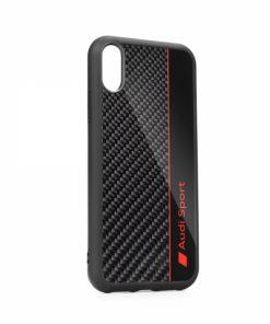 TPUPCIPXSMR8BK_AUDI CARBON FIBRE CASE IPHONE XS MAX black AUS-TPUPCIPXSM-R8/D1-BK
