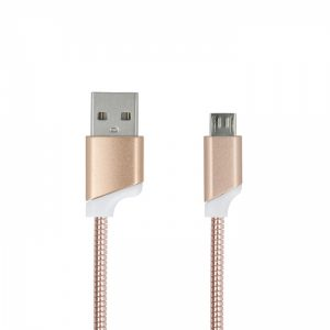 USBMETALMUG_FOREVER MICRO USB DATA CABLE METAL GOLD