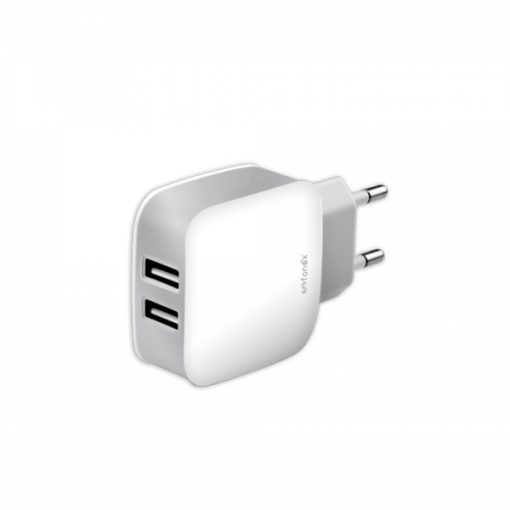 USBTC2AW_FONEX TRAVEL CHARGER 2 PORTS USB 2.1A white