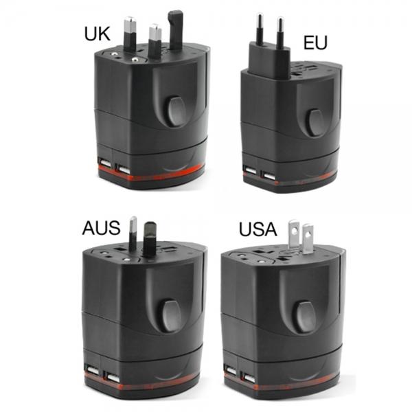 USBTCUNIV_FONEX TRAVEL CHARGER UNIVERSAL EU/USA/AUS/UK black