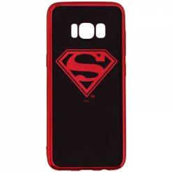 WBSULSAMS9_WARNER BROS SUPERMAN LUXURY CHROME SAMSUNG S9 backcover