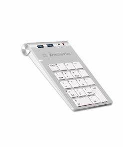 XM-NPHUB32-AU_XTREMEMAC NUMPAD WITH HUB 2 USB PORTS + JACK silver
