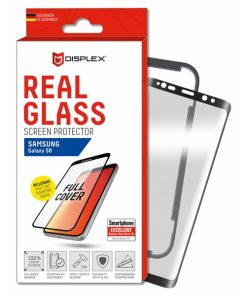 00717_DISPLEX REAL GLASS 3D CURVED SAMSUNG S8 black WITH APPLICATOR