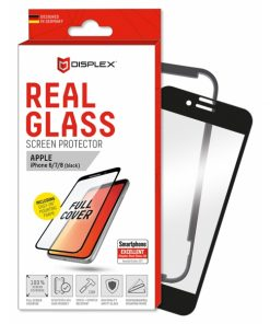 00830_DISPLEX REAL GLASS 3D FULL GLUE IPHONE 6 / 7 / 8 / SE (2020) black WITH APPLICATOR