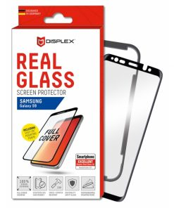 00876_DISPLEX REAL GLASS 3D CURVED SAMSUNG S9 black WITH APPLICATOR