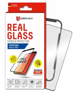 01209_DISPLEX REAL GLASS 3D CURVED SAMSUNG S20 PLUS black WITH APPLICATOR