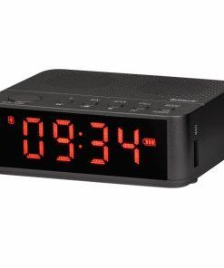 56583_DEFENDER PORTABLE BLUETOOTH SPEAKER ALARM CLOCK