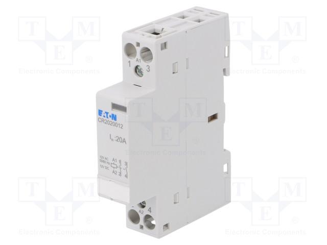 CR2020012_Contactor:2-pole installation; NO x2; 12VAC; 20A; DIN; CR20