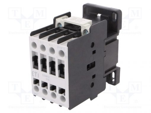 CEM12.01-230V-50/60HZ_Contactor:3-pole; NO x3; Auxiliary contacts: NC; 230VAC; 12A; CEM