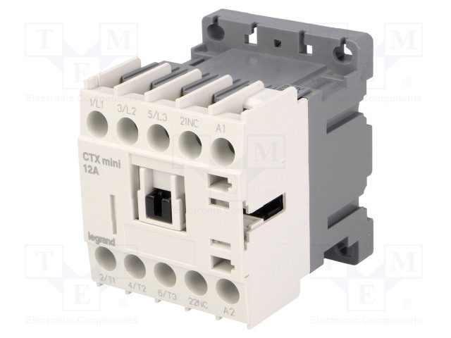 CTX3 MINI 3P 12A 1NC 230VAC_Contactor:3-pole; NO x3; Auxiliary contacts: NC; 230VAC; 12A; DIN