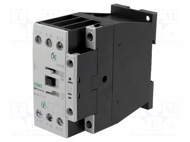 DILM17-01(RDC240)_Contactor:3-pole; NO x3; Auxiliary contacts: NC; 240VDC; 17A; 690V
