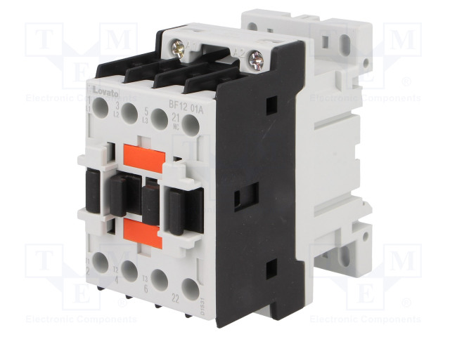 BF1201A024_Contactor:3-pole; NO x3; Auxiliary contacts: NC; 24VAC; 12A; DIN