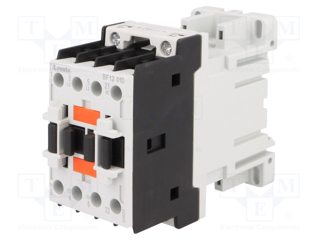 BF1201D024_Contactor:3-pole; NO x3; Auxiliary contacts: NC; 24VDC; 12A; DIN