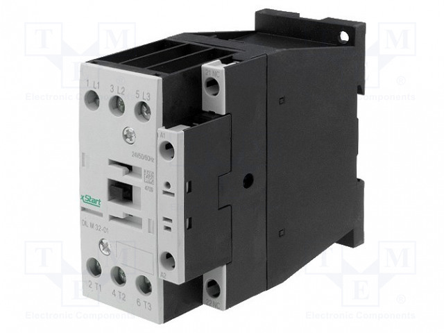 DILM32-01(RDC60)_Contactor:3-pole; NO x3; Auxiliary contacts: NC; 60VDC; 32A; 690V