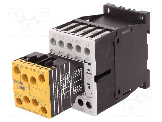 DILMS7-R23(24VDC)_Contactor:3-pole; NO x3; Auxiliary contacts: NC x2