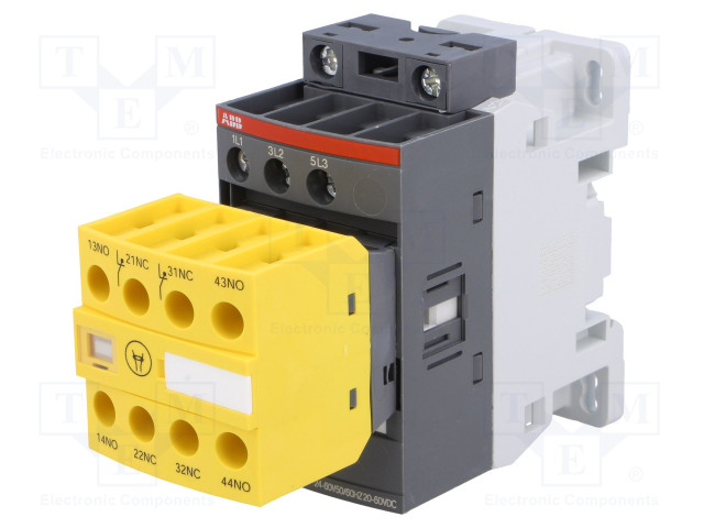 1SBL137082R1122_Contactor:3-pole; NO x3; Auxiliary contacts: NC x2