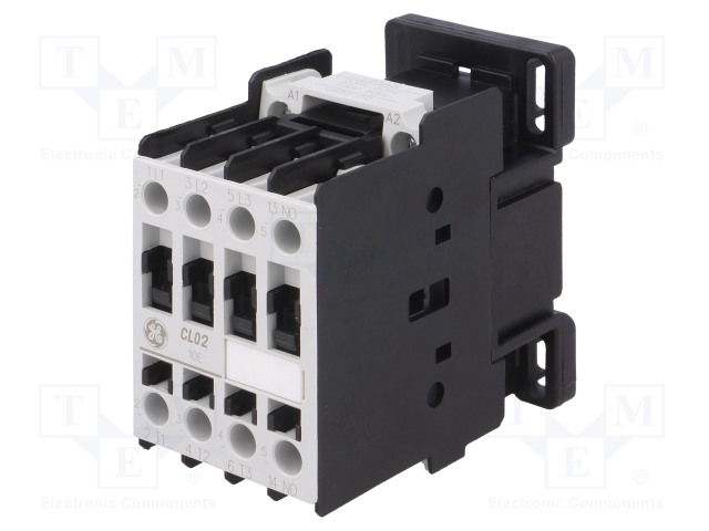 CL02A310T6_Contactor:3-pole; NO x3; Auxiliary contacts: NO; 230VAC; 18A; CL