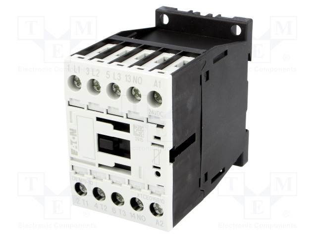 DILM15-10(24VDC)_Contactor:3-pole; NO x3; Auxiliary contacts: NO; 24VDC; 15A; 690V